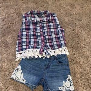 Cat & jack shorts & blouse